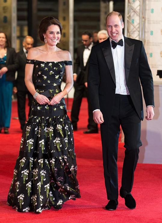 Vévoda s vévodkyní z Cambridge zavítali na ceny BAFTA.