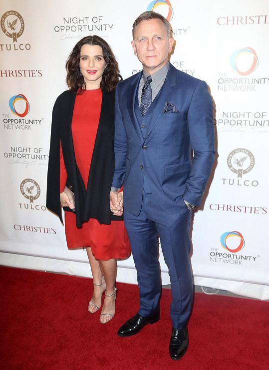 S manželkou Rachel Weisz