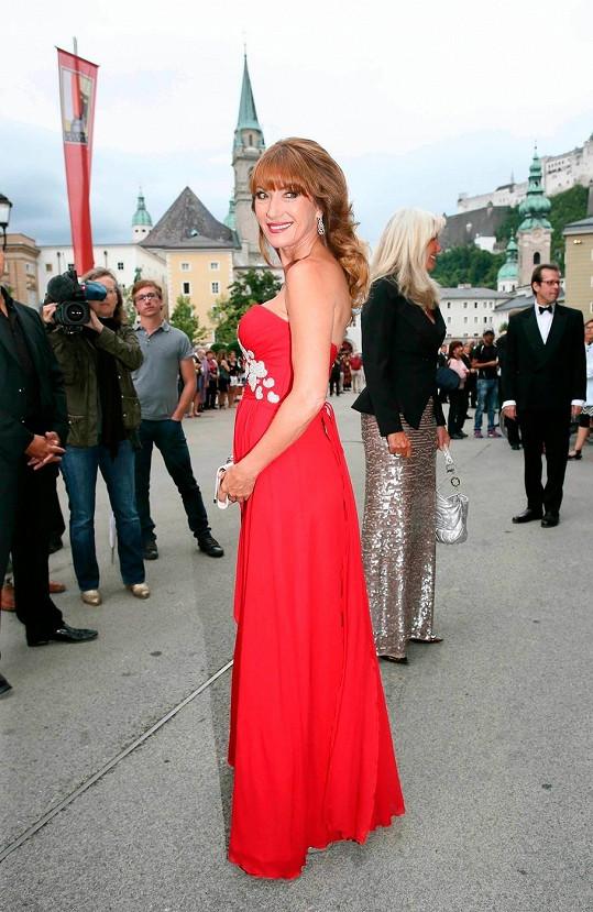 Herečka navštívila Salzburg.