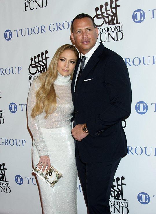 Jennifer Lopez s partnerem Alexem Rodriguezem.