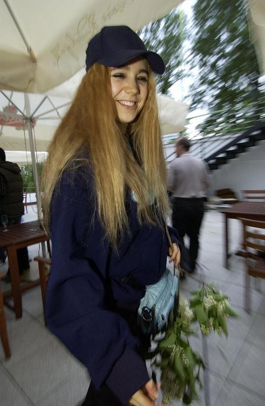 Lucie Vondráčková během křtu DVD Snowboarďáci.