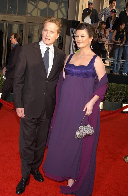 Na udílení SAG Awards byla Catherine podruhé těhotná (březen 2003).