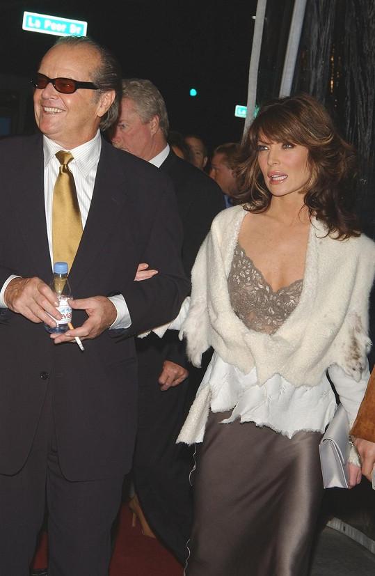 Lara Flynn Boyle randila na přelomu tisíciletí s Jackem Nicholsonem.