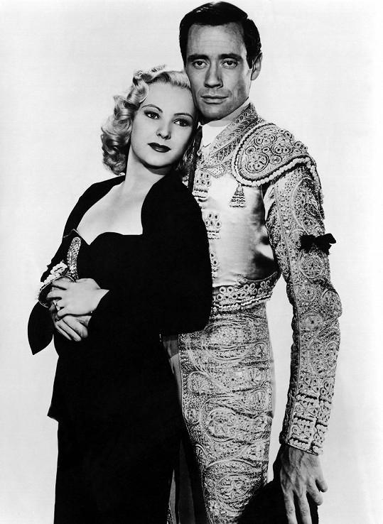Miroslava Sternová a Mel Ferrer v hollywoodském filmu Stateční býci (1951)