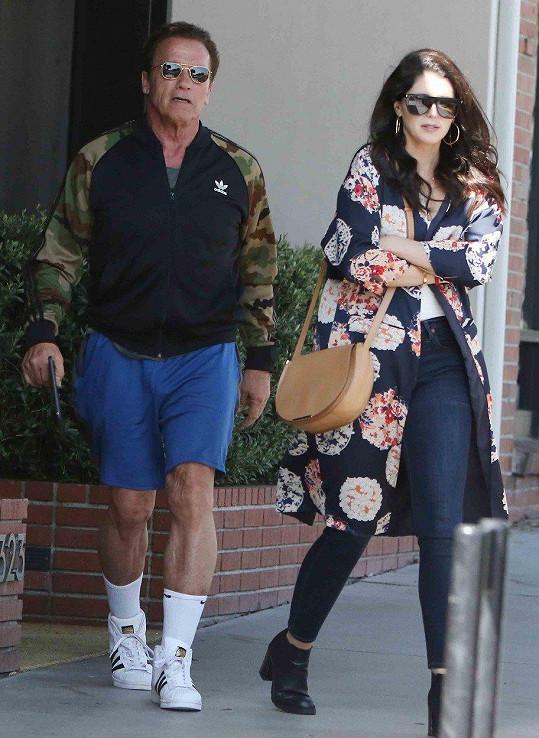 Katherine s otcem Arnoldem Schwarzeneggerem