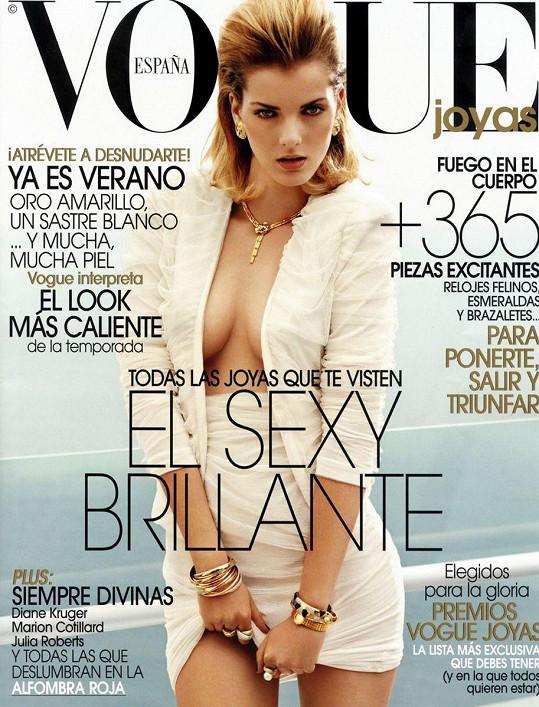 Denisa na obálce španělské Vogue.