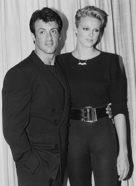 Za Sylvestera Stalloneho byla provdaná tři roky.