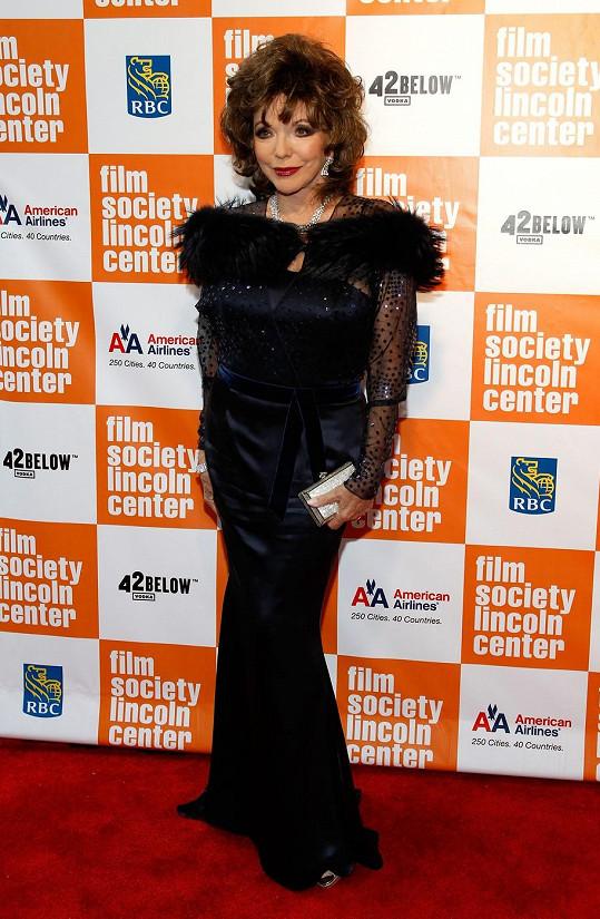 Joan Collins se dočká šlechtického titulu.