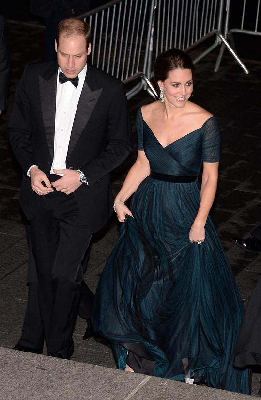 Manželé se v New Yorku účastnili charitativního galavečera.