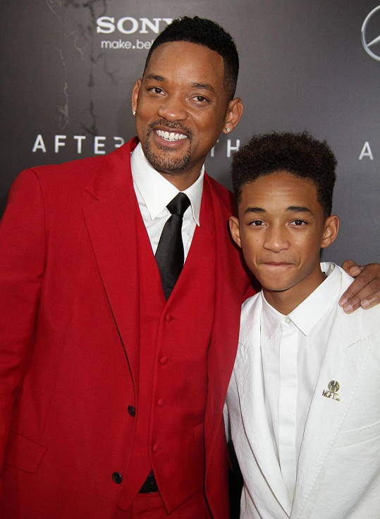 Jaden s otcem Willem Smithem