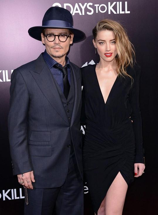 Amber Heard s exmanželem Johnnym Deppem