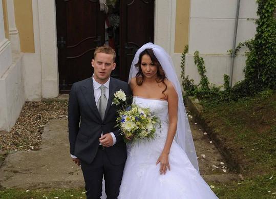 Svatební fotka Prachařových