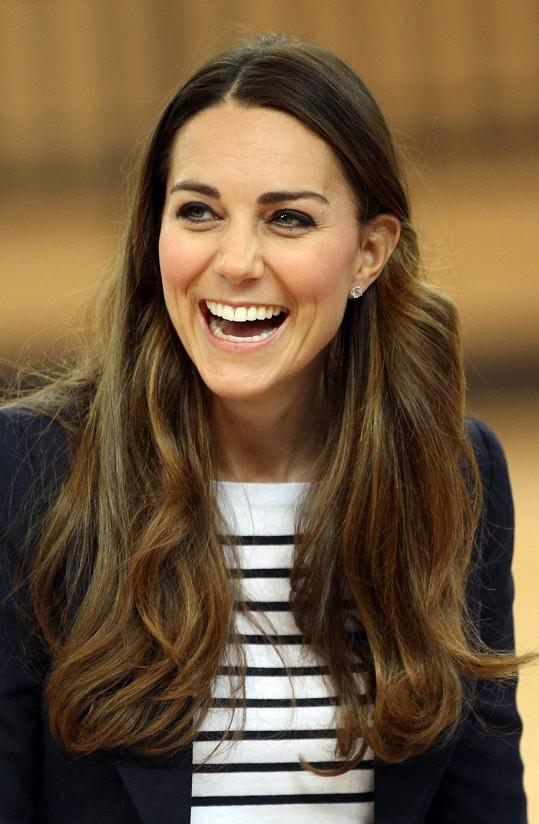 Kate se výborně bavila stejně jako spoluhráči.