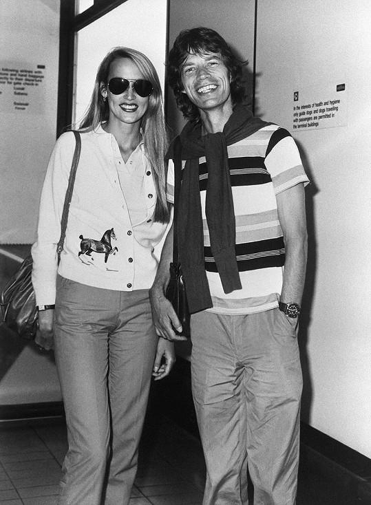 S bývalým manželem Mickem Jaggerem v roce 1981