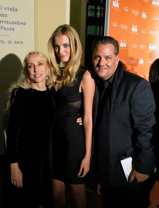 S šéfredaktorkou italské Vogue Francou Sozzani a svým objevitelem Sašou Jánym