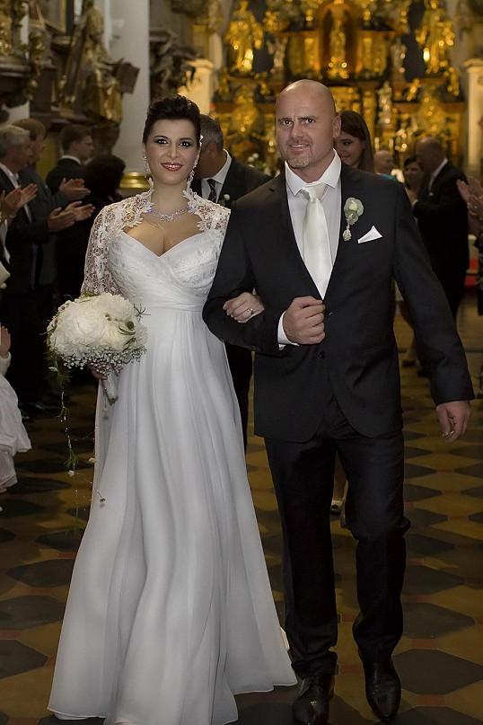 Svatbu měli v šestém měsíci těhotenství Andrey.