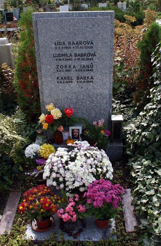 Po smrti našla Baarová konečně klid. V rodinném hrobě odpočívá společně se sestrou a rodiči.