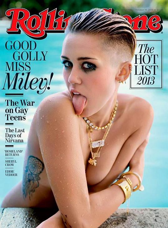 Miley Cyrus se nikdy nebála ukázat nahá, třeba i na obálce časopisu.