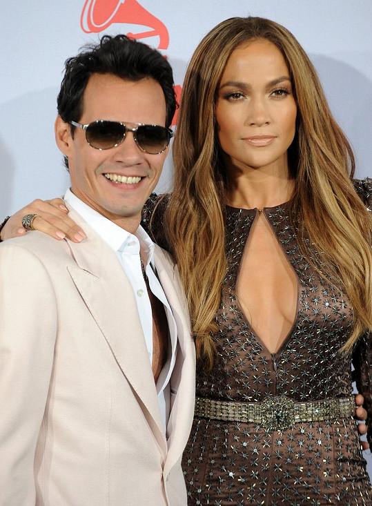 Marc Anthony s exmanželkou Jennifer Lopez