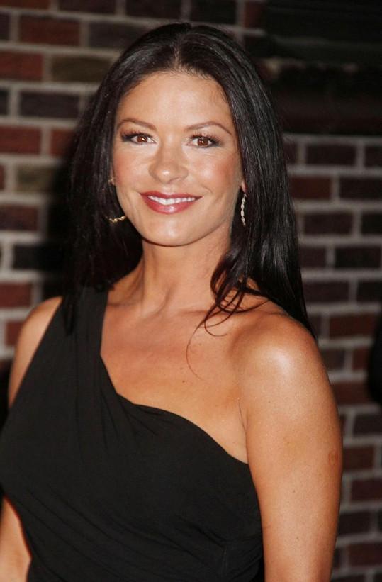 Catherine Zeta-Jones zavítala do show Davida Lettermana.