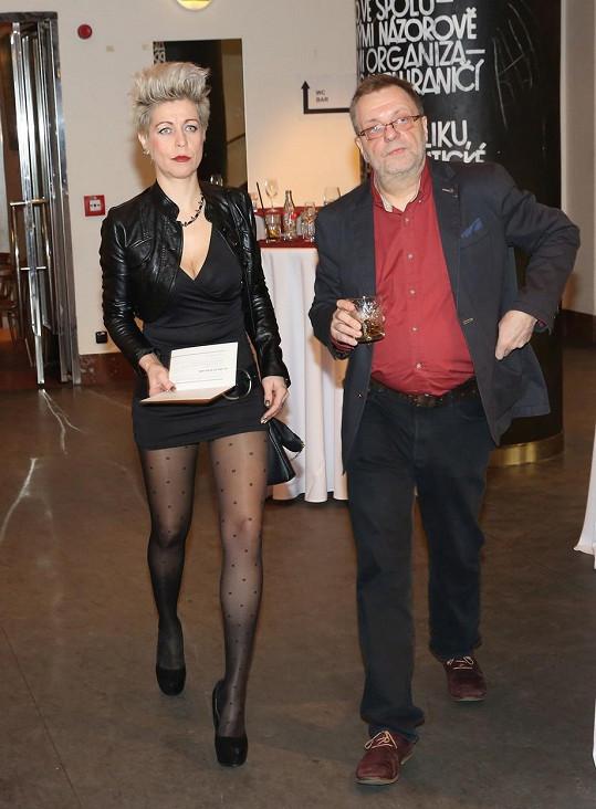 Milan Šteindler s doprovodem na předávání Cen české filmové kritiky