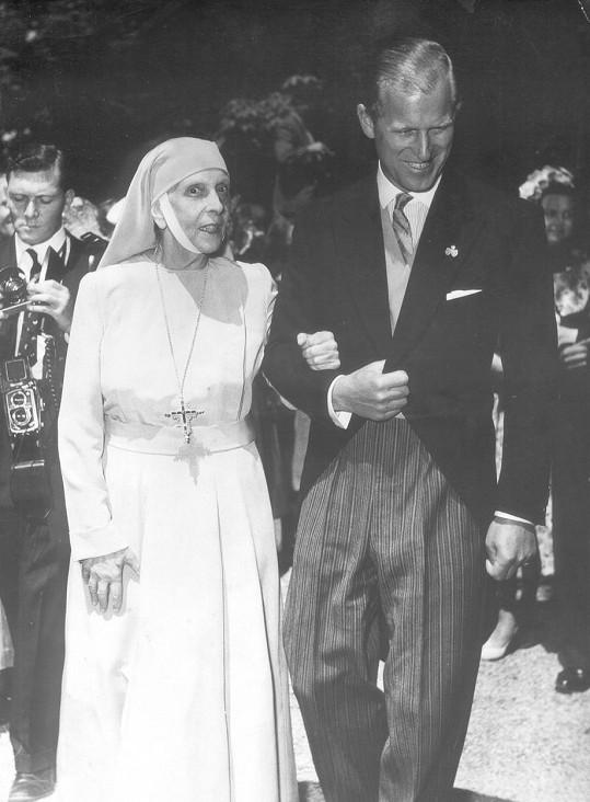 Princ Philip s matkou, princeznou Alicí