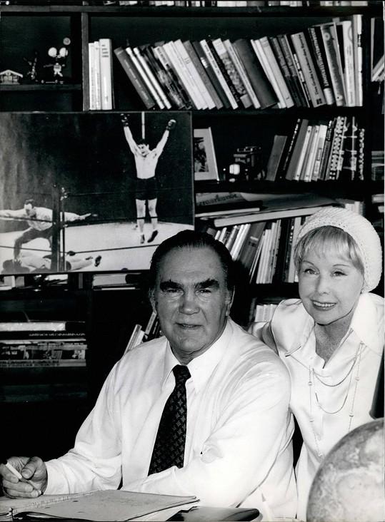 Max Schmeling a Anny Ondráková na fotce ze 70. let.