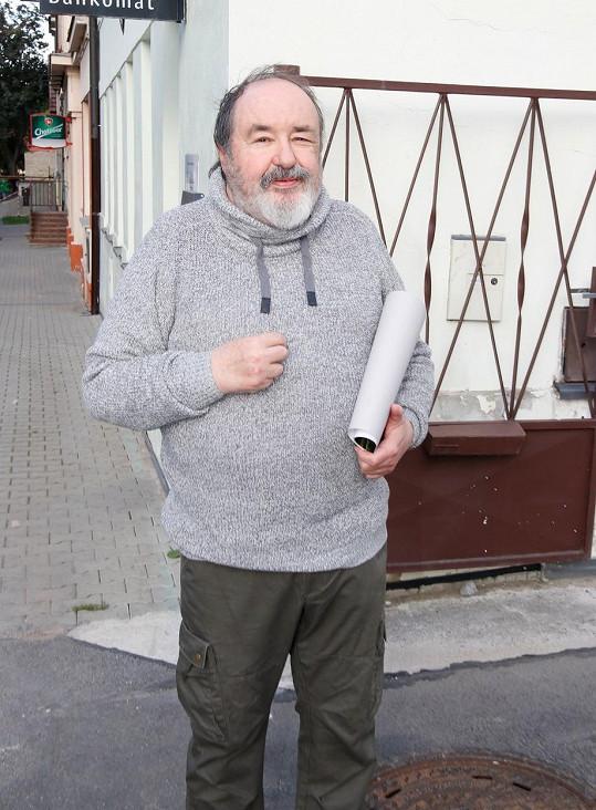 Petr Novotný dorazil v dobré náladě.