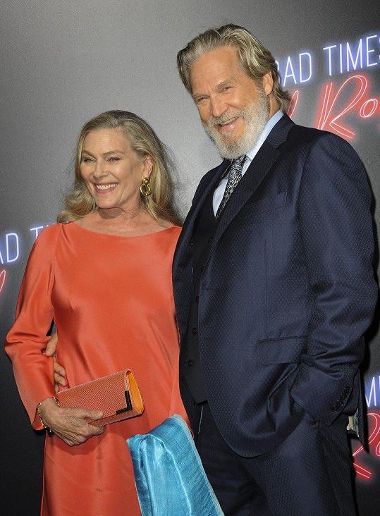 Jeff Bridges a Susan Geston - 41 let