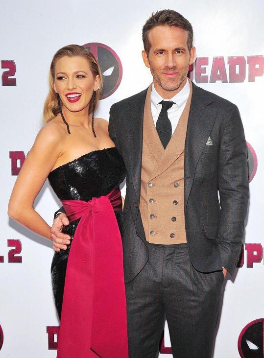 Ryan Reynolds vzal Blake Lively na svou novinku Deadpool 2.