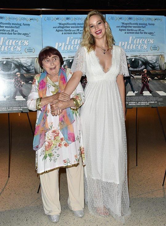 Jennifer Lawrence přišla podpořit legendární filmařku.