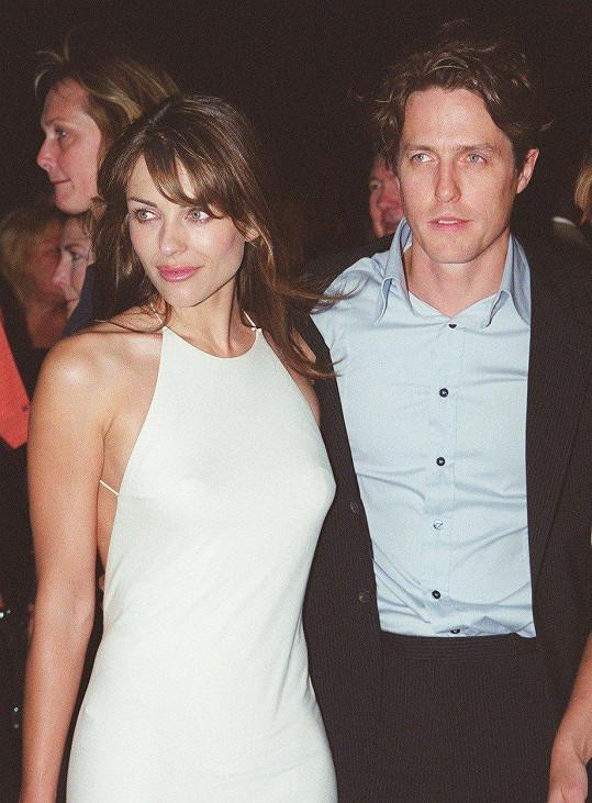 S Hughem Grantem se rozešli v roce 2000.