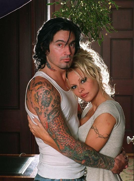 S tehdejším manželem Tommym Lee