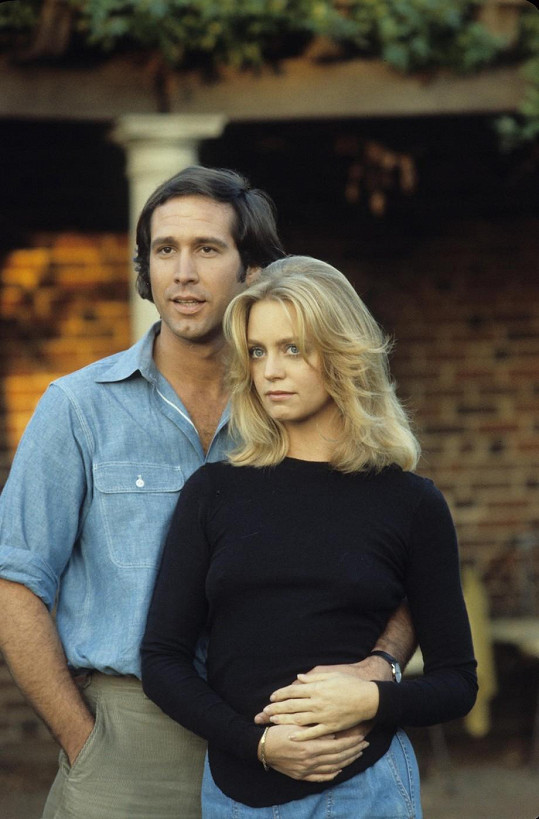 Chevy Chase s Goldie Hawn na fotce z roku 1978