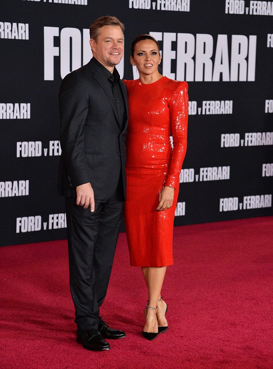 Matt Damon s manželkou Lucianou