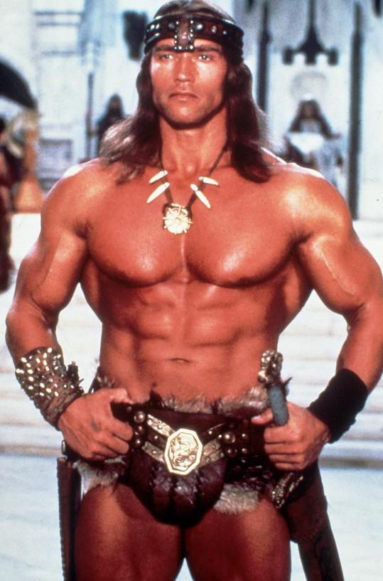 Arnold Schwarzenegger jako nezapomenutelný Barbar Conan