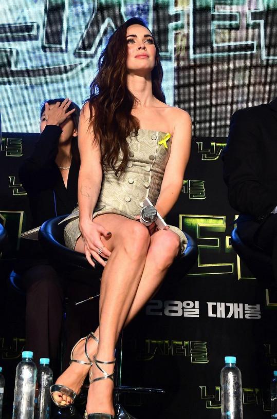 Megan přiletěla na premiéru filmu do Jižní Koreje.