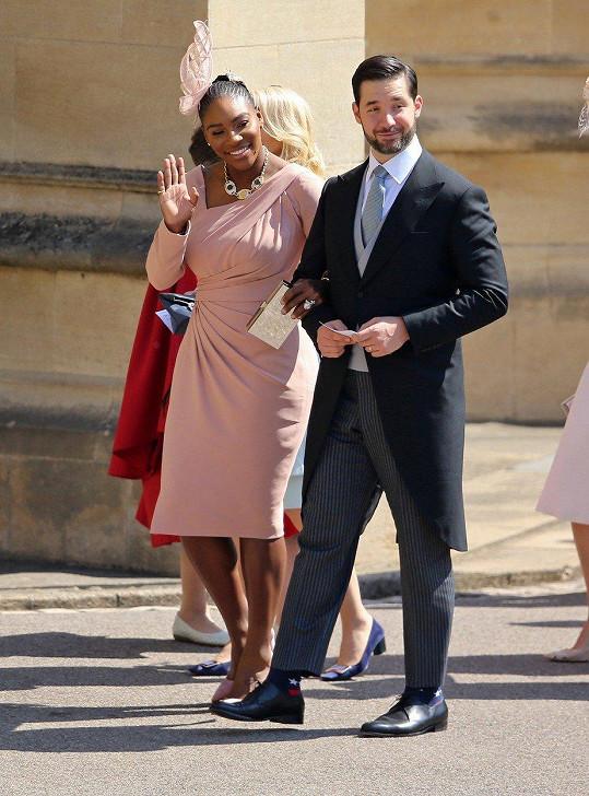 Serena s manželem na svatbě Meghan a Harryho