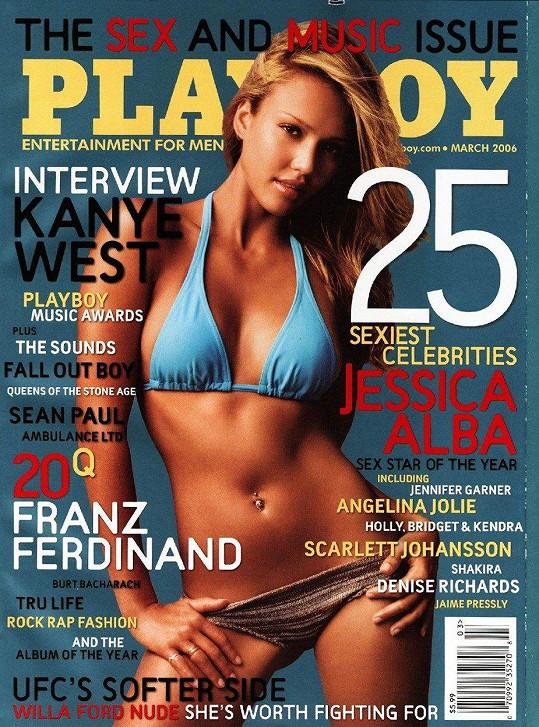 Jessica Alba v roce 2006 jako cover star Playboye