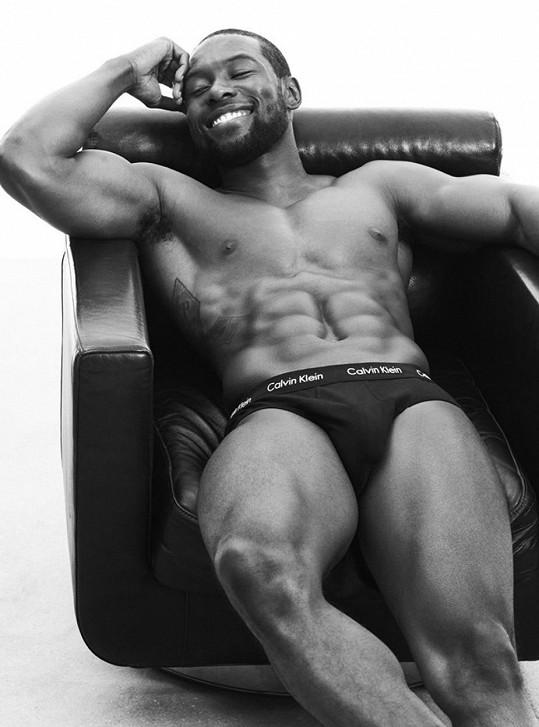 Trevante Rhodes je rovněž jednou z tváří a hlavně tělem známé značky...