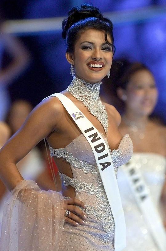 Osmnáctiletá Priyanka získává titul Miss World.