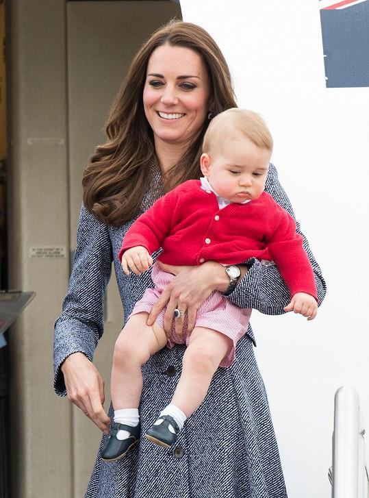 Vévodkyně Kate s princem Georgem