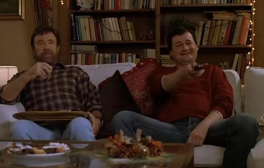 Martin Valouch a Chuck Norris v jedné z populárních reklam na T-Mobile