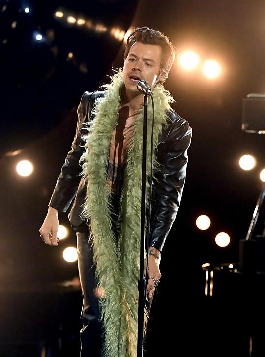 Harry Styles získal svou první sošku Grammy.
