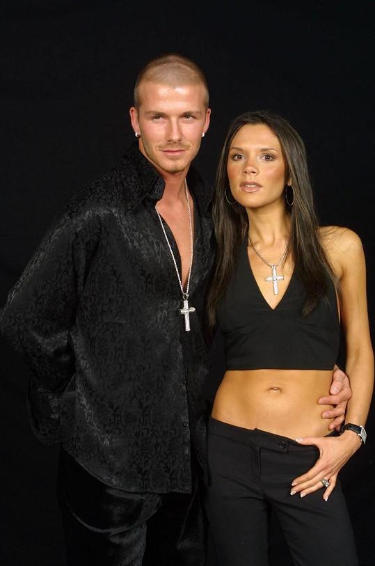 David a Victoria na snímku z roku 2001