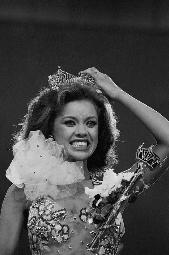 Vanessa Williams v roce 1983, kdy byla korunována Miss America.