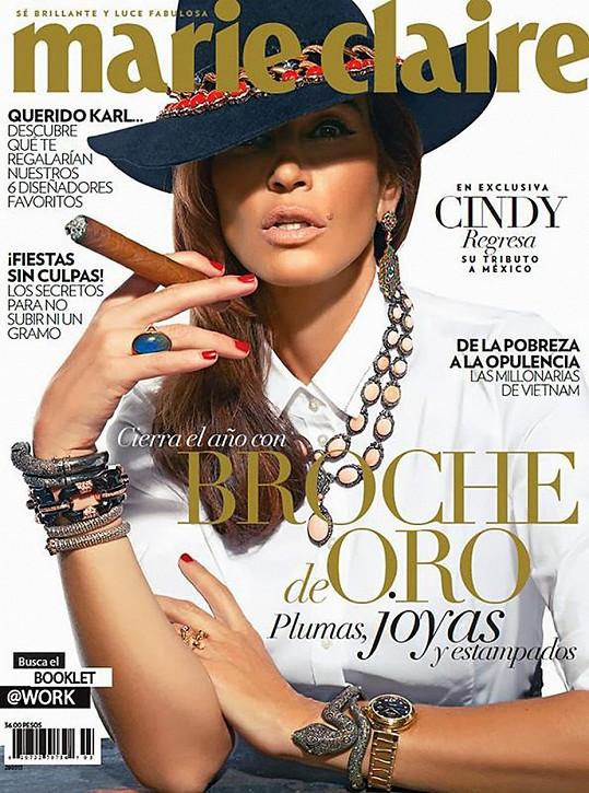 Snímek prý pochází z focení pro mexickou verzi Marie Claire z roku 2013.