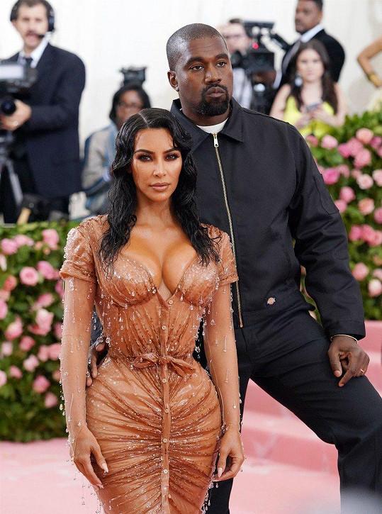 Na akci ji doprovodil manžel Kanye West.