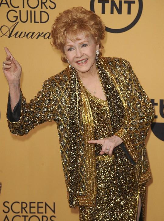 Debbie Reynolds na udílení SAG Awards převzala cenu za celoživotní dílo.