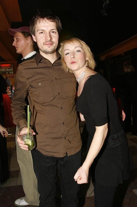 Tatiana Vilhelmová s tehdejším manželem Pavlem Čechákem
